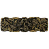 Woodland Collection 4-3/8'' Wide Cones & Boughs Cabinet Pull in Antique Brass, 4-3/8'' W x 1-1/8'' D x 1-3/8'' H