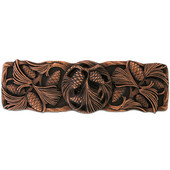 Woodland Collection 4-3/8'' Wide Cones & Boughs Cabinet Pull in Antique Copper, 4-3/8'' W x 1-1/8'' D x 1-3/8'' H