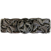 Woodland Collection 4-3/8'' Wide Cones & Boughs Cabinet Pull in Antique Pewter, 4-3/8'' W x 1-1/8'' D x 1-3/8'' H