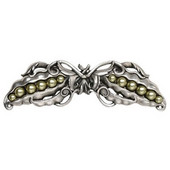 Kitchen Garden Collection 5'' Wide Pearly Peapod Cabinet Pull in Antique Pewter, 5'' W x 1-1/8'' D x 1-1/2'' H