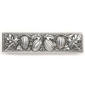 Kitchen Garden Collection 4-7/8'' Wide Autumn Squash Cabinet Pull in Brilliant Pewter, 4-7/8'' W x 7/8'' D x 1-1/4'' H