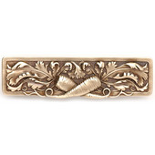 Kitchen Garden Collection 4-7/8'' Wide Leafy Carrot Cabinet Pull in Antique Brass, 4-7/8'' W x 7/8'' D x 1-3/8'' H