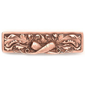 Kitchen Garden Collection 4-7/8'' Wide Leafy Carrot Cabinet Pull in Antique Copper, 4-7/8'' W x 7/8'' D x 1-3/8'' H