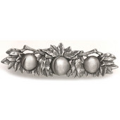 Kitchen Garden Collection 5'' Wide Georgia Peach Cabinet Pull in Antique Pewter, 5'' W x 7/8'' D x 1-1/2'' H