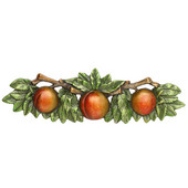Kitchen Garden Collection 5'' Wide Georgia Peach Cabinet Pull in Pewter Hand Tinted, 5'' W x 7/8'' D x 1-1/2'' H