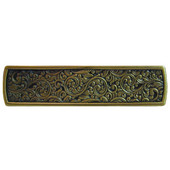 Classic Collection 3-7/8'' Wide Saddleworth Cabinet Pull in Antique Brass, 3-7/8'' W x 7/8'' D x 7/8'' H