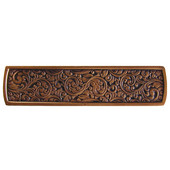 Classic Collection 3-7/8'' Wide Saddleworth Cabinet Pull in Antique Copper, 3-7/8'' W x 7/8'' D x 7/8'' H