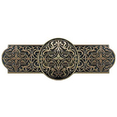 Classic Collection 4'' Wide Renaissance Cabinet Pull in Brite Brass, 4'' W x 7/8'' D x 1-1/2'' H