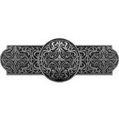 Classic Collection 4'' Wide Renaissance Cabinet Pull in Brilliant Pewter, 4'' W x 7/8'' D x 1-1/2'' H
