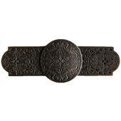 Classic Collection 4'' Wide Renaissance Etch Cabinet Pull in Dark Brass, 4'' W x 7/8'' D x 1-1/2'' H