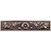 English Garden Collection 4-7/8'' Wide Poppy Cabinet Pull in Antique Brass, 4-7/8'' W x 7/8'' D x 1'' H