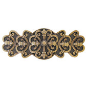 Chateau Collection 4-1/8'' Wide Chateau Cabinet Pull in Antique Brass, 4-1/8'' W x 7/8'' D x 1-5/8'' H