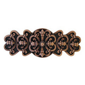 Chateau Collection 4-1/8'' Wide Chateau Cabinet Pull in Antique Copper, 4-1/8'' W x 7/8'' D x 1-5/8'' H