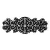 Chateau Collection 4-1/8'' Wide Chateau Cabinet Pull in Antique Pewter, 4-1/8'' W x 7/8'' D x 1-5/8'' H