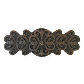Chateau Collection 4-1/8'' Wide Chateau Cabinet Pull in Dark Brass, 4-1/8'' W x 7/8'' D x 1-5/8'' H