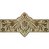English Garden Collection 4-3/8'' Wide Dianthus Cabinet Pull in Enameled Antique Brass/Saffron (Yellow), 4-3/8'' W x 7/8'' D x 2-1/4'' H