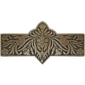 English Garden Collection 4-3/8'' Wide Dianthus Cabinet Pull in Antique Brass, 4-3/8'' W x 7/8'' D x 2-1/4'' H