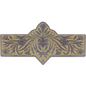 English Garden Collection 4-3/8'' Wide Dianthus Cabinet Pull in Enameled Antique Pewter/Saffron (Yellow), 4-3/8'' W x 7/8'' D x 2-1/4'' H