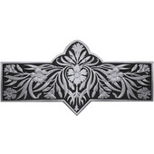 English Garden Collection 4-3/8'' Wide Dianthus Cabinet Pull in Enameled Brilliant Pewter, 4-3/8'' W x 7/8'' D x 2-1/4'' H