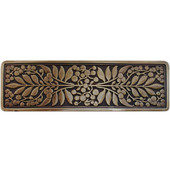 English Garden Collection 4-3/8'' Wide Mountain Ash Cabinet Pull in Antique Brass, 4-3/8'' W x 7/8'' D x 1-3/8'' H