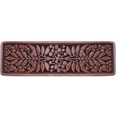 English Garden Collection 4-3/8'' Wide Mountain Ash Cabinet Pull in Antique Copper, 4-3/8'' W x 7/8'' D x 1-3/8'' H