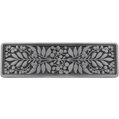 English Garden Collection 4-3/8'' Wide Mountain Ash Cabinet Pull in Antique Pewter, 4-3/8'' W x 7/8'' D x 1-3/8'' H