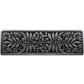 English Garden Collection 4-3/8'' Wide Mountain Ash Cabinet Pull in Brilliant Pewter, 4-3/8'' W x 7/8'' D x 1-3/8'' H