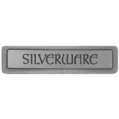 Kitchen ID Collection 4'' Wide (Horizontal) ''Silverware'' Cabinet Pull in Antique Pewter, 4'' W x 7/8'' D x 7/8'' H