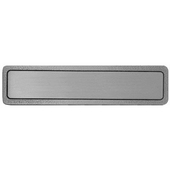 Kitchen ID Collection 4'' Wide Plain Cabinet Pull (Custom Engraving Available) in Antique Pewter, 4'' W x 7/8'' D x 7/8'' H