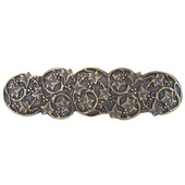 Florals & Leaves Collection 4'' Wide Ivy with Berries Cabinet Pull in Antique Brass, 4'' W x 7/8'' D x 1-1/8'' H
