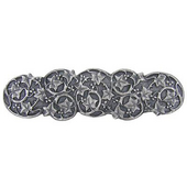 Florals & Leaves Collection 4'' Wide Ivy with Berries Cabinet Pull in Antique Pewter, 4'' W x 7/8'' D x 1-1/8'' H