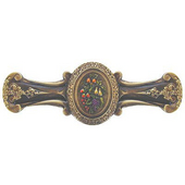 Tuscan Collection 4-1/8'' Wide Fruit Bouquet Cabinet Pull in Hand-Tinted Antique Brass, 4-1/8'' W x 7/8'' D x 1-1/2'' H