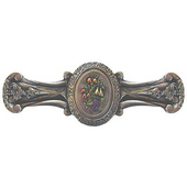 Tuscan Collection 4-1/8'' Wide Fruit Bouquet Cabinet Pull in Hand-Tinted Brite Nickel, 4-1/8'' W x 7/8'' D x 1-1/2'' H