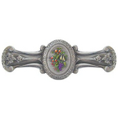 Tuscan Collection 4-1/8'' Wide Fruit Bouquet Cabinet Pull in Hand-Tinted Antique Pewter, 4-1/8'' W x 7/8'' D x 1-1/2'' H