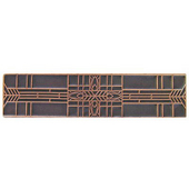 Period Pieces Collection 3-3/4'' Wide Prairie Tulips Cabinet Pull in Antique Copper, 3-3/4'' W x 7/8'' D x 7/8'' H