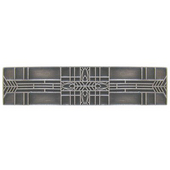 Period Pieces Collection 3-3/4'' Wide Prairie Tulips Cabinet Pull in Antique Pewter, 3-3/4'' W x 7/8'' D x 7/8'' H