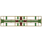Period Pieces Collection 3-3/4'' Wide Prairie Tulips Cabinet Pull in Enameled Antique Brass and Spring Green, 3-3/4'' W x 7/8'' D x 7/8'' H