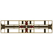 Period Pieces Collection 3-3/4'' Wide Prairie Tulips Cabinet Pull in Enameled Antique Brass and Evergreen, 3-3/4'' W x 7/8'' D x 7/8'' H