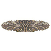 Classic Collection 3-3/4'' Wide Opulent Scroll Cabinet Pull in Antique Brass, 3-3/4'' W x 7/8'' D x 7/8'' H
