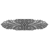 Classic Collection 3-3/4'' Wide Opulent Scroll Cabinet Pull in Antique Pewter, 3-3/4'' W x 7/8'' D x 7/8'' H