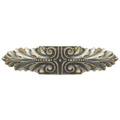 Classic Collection 3-3/4'' Wide Opulent Scroll Cabinet Pull in Brite Brass, 3-3/4'' W x 7/8'' D x 7/8'' H