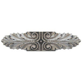 Classic Collection 3-3/4'' Wide Opulent Scroll Cabinet Pull in Satin Nickel, 3-3/4'' W x 7/8'' D x 7/8'' H