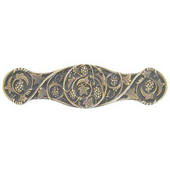 Tuscan Collection 4'' Wide Grapevines Cabinet Pull in Antique Brass, 4'' W x 7/8'' D x 1'' H