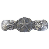 Pastimes Collection 4'' Wide Seaside Collage Cabinet Pull in Antique Pewter, 4'' W x 7/8'' D x 1-1/4'' H