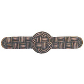 Pastimes Collection 4-1/8'' Wide Classic Weave Cabinet Pull in Antique Copper, 4-1/8'' W x 7/8'' D x 1-1/8'' H