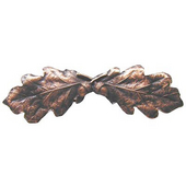 Woodland Collection 4'' Wide Oak Leaf Cabinet Pull in Antique Copper, 4'' W x 7/8'' D x 1-1/4'' H