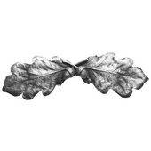 Woodland Collection 4'' Wide Oak Leaf Cabinet Pull in Antique Pewter, 4'' W x 7/8'' D x 1-1/4'' H