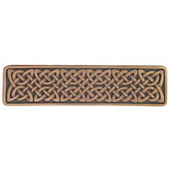 Nouveau Collection 3-7/8'' Wide Celtic Isles Rectangle Cabinet Pull in Antique Copper, 3-7/8'' W x 7/8'' D x 1'' H