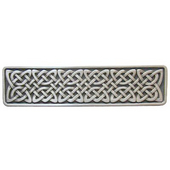 Nouveau Collection 3-7/8'' Wide Celtic Isles Rectangle Cabinet Pull in Antique Pewter, 3-7/8'' W x 7/8'' D x 1'' H