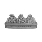 Fun in the Kitchen Collection 4-1/4'' Wide Rub-a-Dub Cabinet Pull in Antique Pewter, 4-1/4'' W x 7/8'' D x 1-7/8'' H
